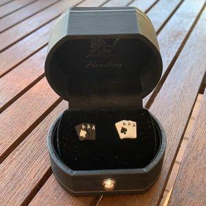 BRAND NEW Black and White Card Earrings